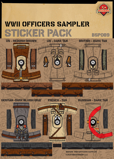 WWII Officers Sampler - Sticker Pack