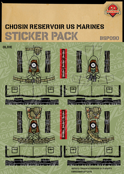 Chosin Reservoir US Marines - Sticker Pack