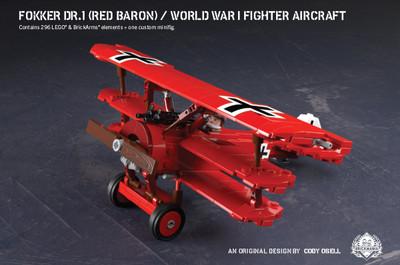 Fokker Dr.1 (Red Baron) - World War I Fighter Aircraft