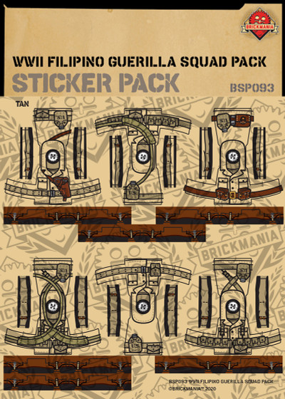WWII Filipino Guerilla Squad Pack - Sticker Pack