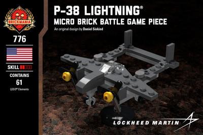 P-38 Lightning® - Micro Brick Battle Game Piece