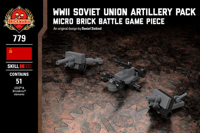 WWII Soviet Union Artillery Pack - M1927 76mm Regimental Gun, ZiS-3 76mm Field Gun, and M1939 85mm Anti-Aircraft Gun 52-K