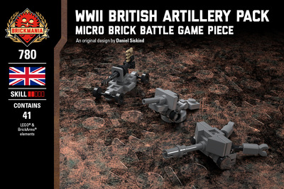 WWII British Artillery Pack - 17-Pounder Anti-Tank Gun, 25 Pounder Field Gun, and Bofors 40mm Anti-Aircraft Gun