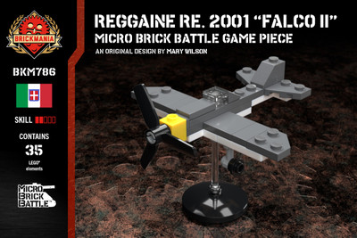 "Reggiane Re. 2001 ""Falco II""- Micro Brick Battle Game Piece"