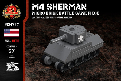 M4 Sherman - Micro Brick Battle Game Piece