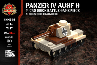 Panzer IV Ausf G - Micro Brick Battle Game Piece