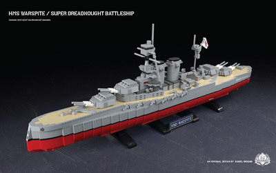 HMS Warspite - Super Dreadnought Battleship