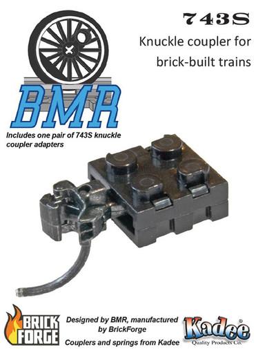 743S Knuckle Coupler Pack - Brick Model Railroader