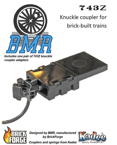 743Z Knuckle Coupler Pack - Brick Model Railroader