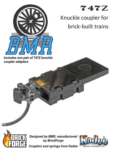747Z Knuckle Coupler Pack - Brick Model Railroader