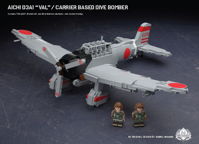 """Aichi D3A1 """"Val""""- Carrier Based Dive Bomber"""
