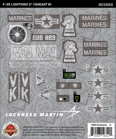 F-35 LIGHTNING II® (Variant B) (BKE889) - Sticker Pack