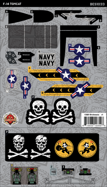 F-14 Tomcat (BKE1033) - Sticker Pack