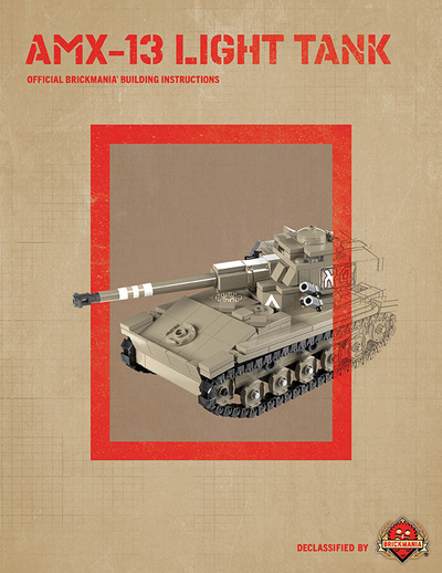 AMX-13 Light Tank - Digital Building Instructions