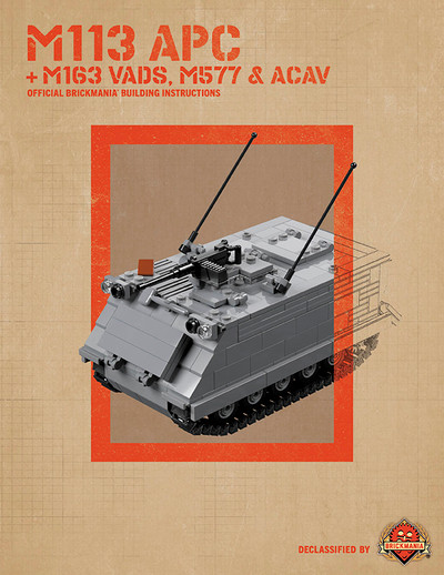 M113 APC + M163 VADS, M577 & ACAV - Digital Building Instructions