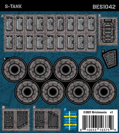 S-Tank (BKE1042) - Sticker Pack