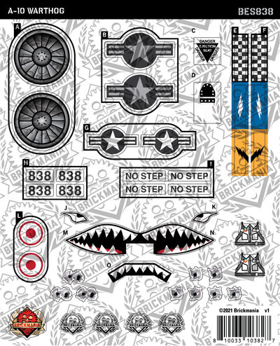A-10 Warthog (BKE838) - Sticker Pack