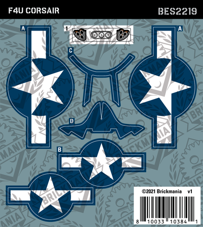 F4U Corsair (BKE2219) - Sticker Pack
