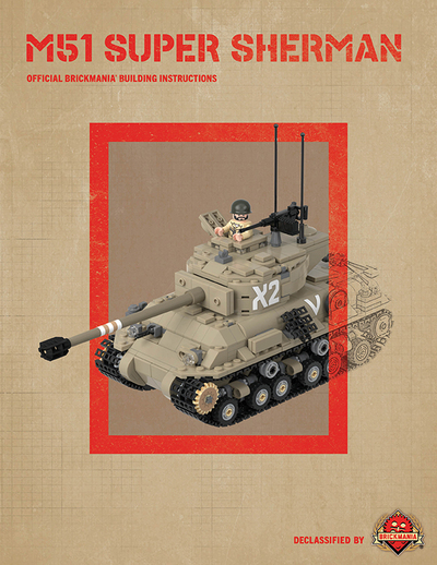 M51 Super Sherman - Digital Building Instructions