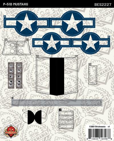 P-51D Mustang (BKE2227) - Sticker Pack