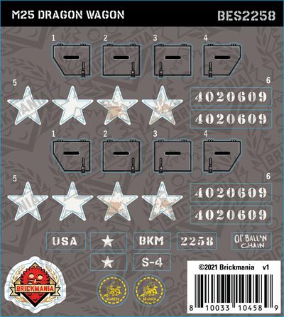 M25 Dragon Wagon (BKE2258) - Sticker Pack
