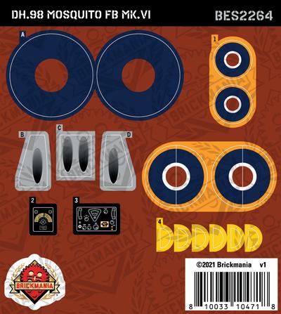 DH.98 Mosquito FB MK.VI (BKE2264) - Sticker Pack