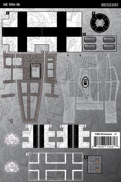 HE 111H-16 (BKE2261) - Sticker Pack