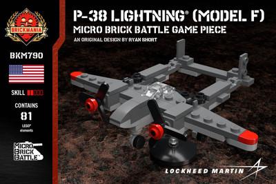 P-38 Lightning® (Model F) - Micro Brick Battle Game Piece