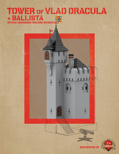 Tower of Vlad Dracula + Ballista - Digital Building Instructions