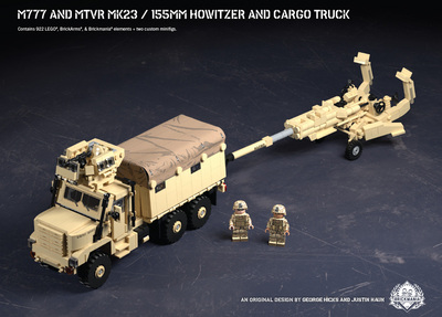 M777 and MTVR MK23 – 155mm Howitzer and Cargo Truck