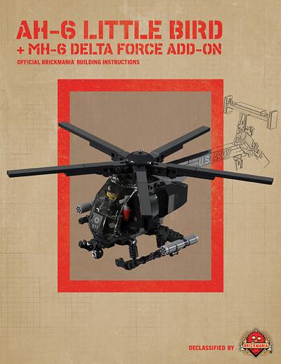 AH-6 Little Bird + MH-6 Delta Force Add-On - Digital Building Instructions