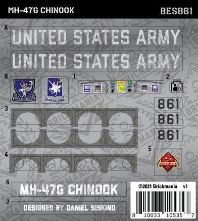 MH-47G Chinook (BKE861) - Sticker Pack