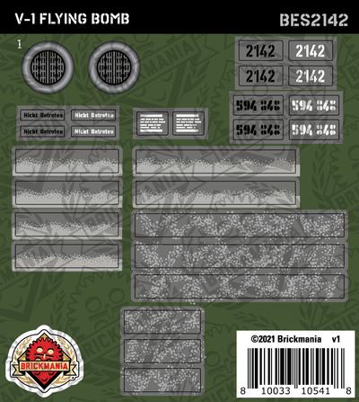 V1 Flying Bomb (BKE2142) - Sticker Pack