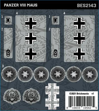 Panzer VIII Maus (BKE2143) - Sticker Pack