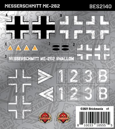 Messerschmitt ME 262 Swallow (BKE2140) - Sticker Pack
