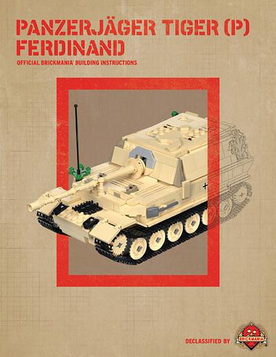 Panzerjager Tiger (P) Ferdinand - Digital Building Instructions