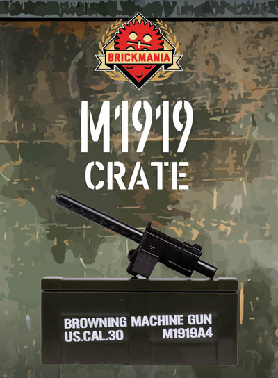 BrickArms® M1919 and Printed Crate