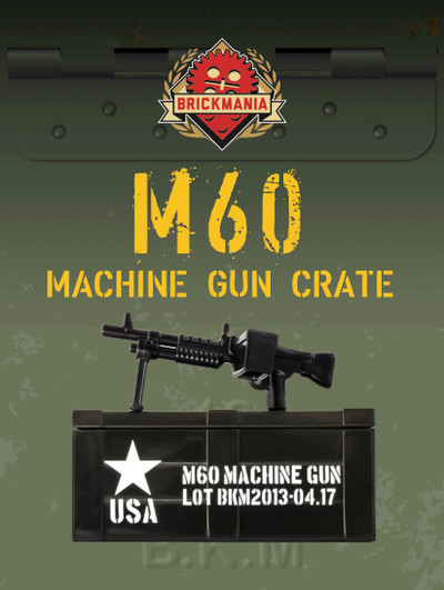 BrickArms® M60 and Printed Crate