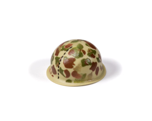 M1 Steel Pot Helmet - WWII US Marines Frog Skin Camouflage e41736fa6e07