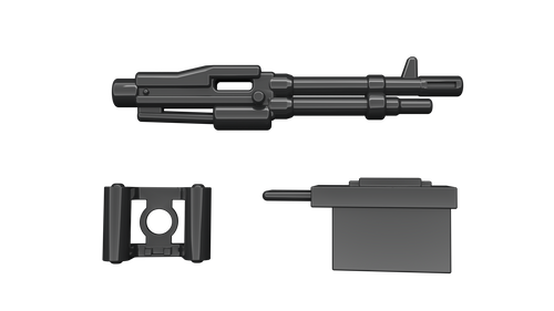 BrickArms Black M60 LMG Weapons for Brick Minifigures