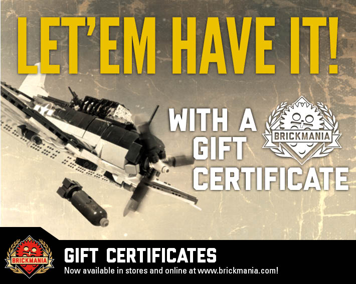 Give Brickmania Gift Certificates!