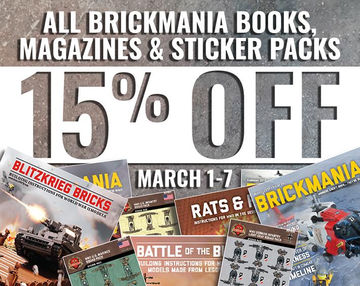 布里克马尼亚图书15%折扣,杂志及贴纸包装