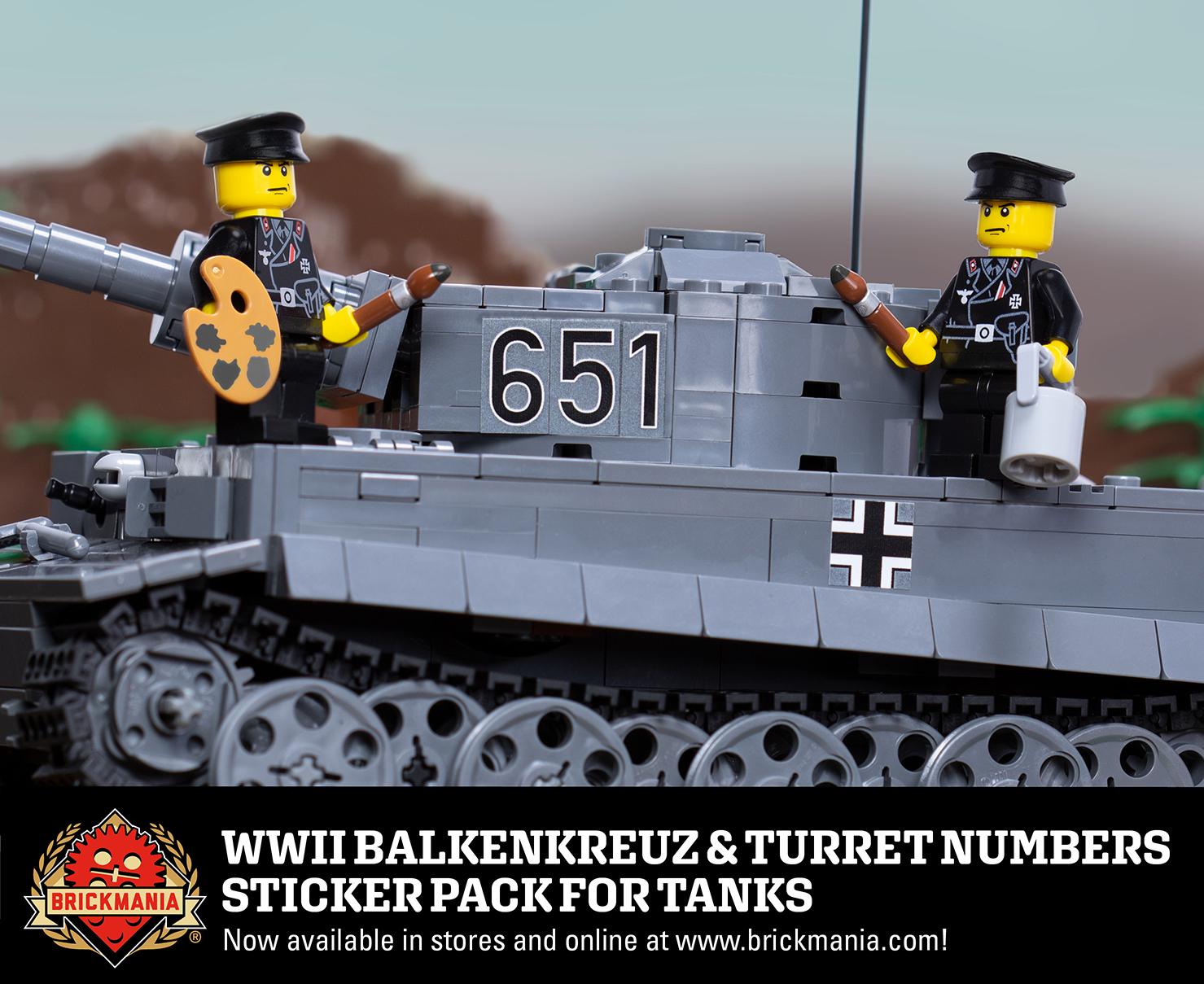WWII Balkenkreuz & Turret Numbers - Sticker Pack