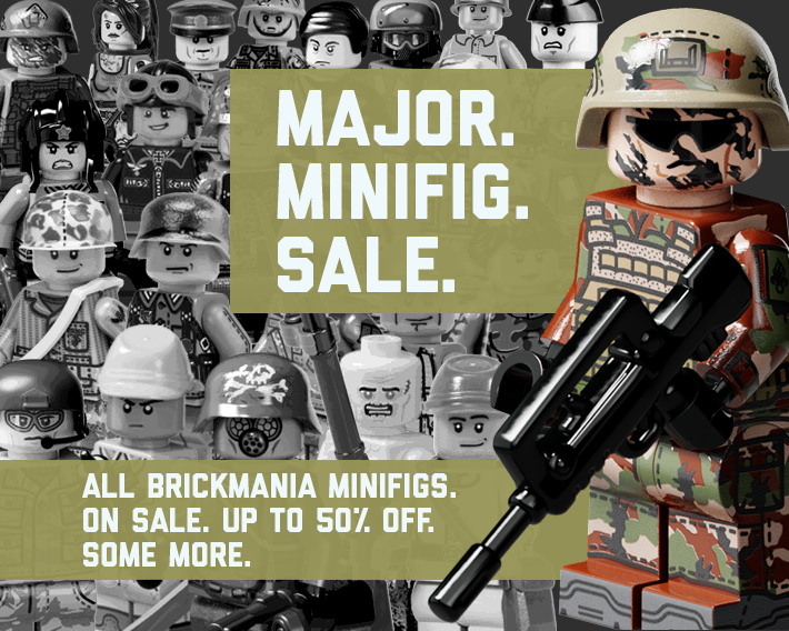All Brickmania Minifigs Up To 50% Off. Some more.