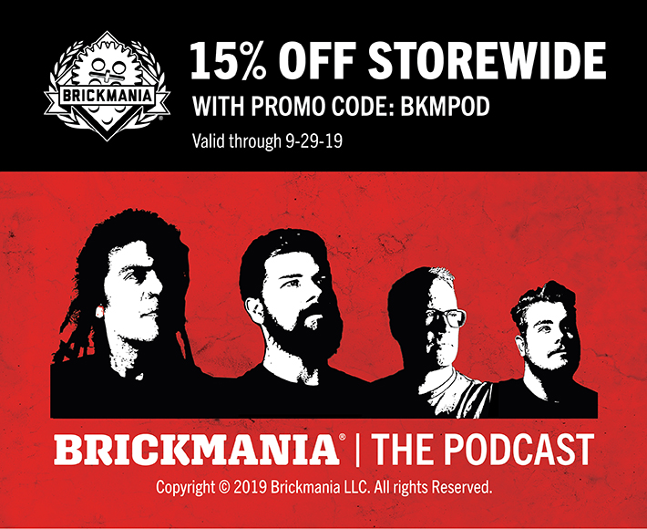 Listen to our new podcast at brickmaniatoys.com/podcast/