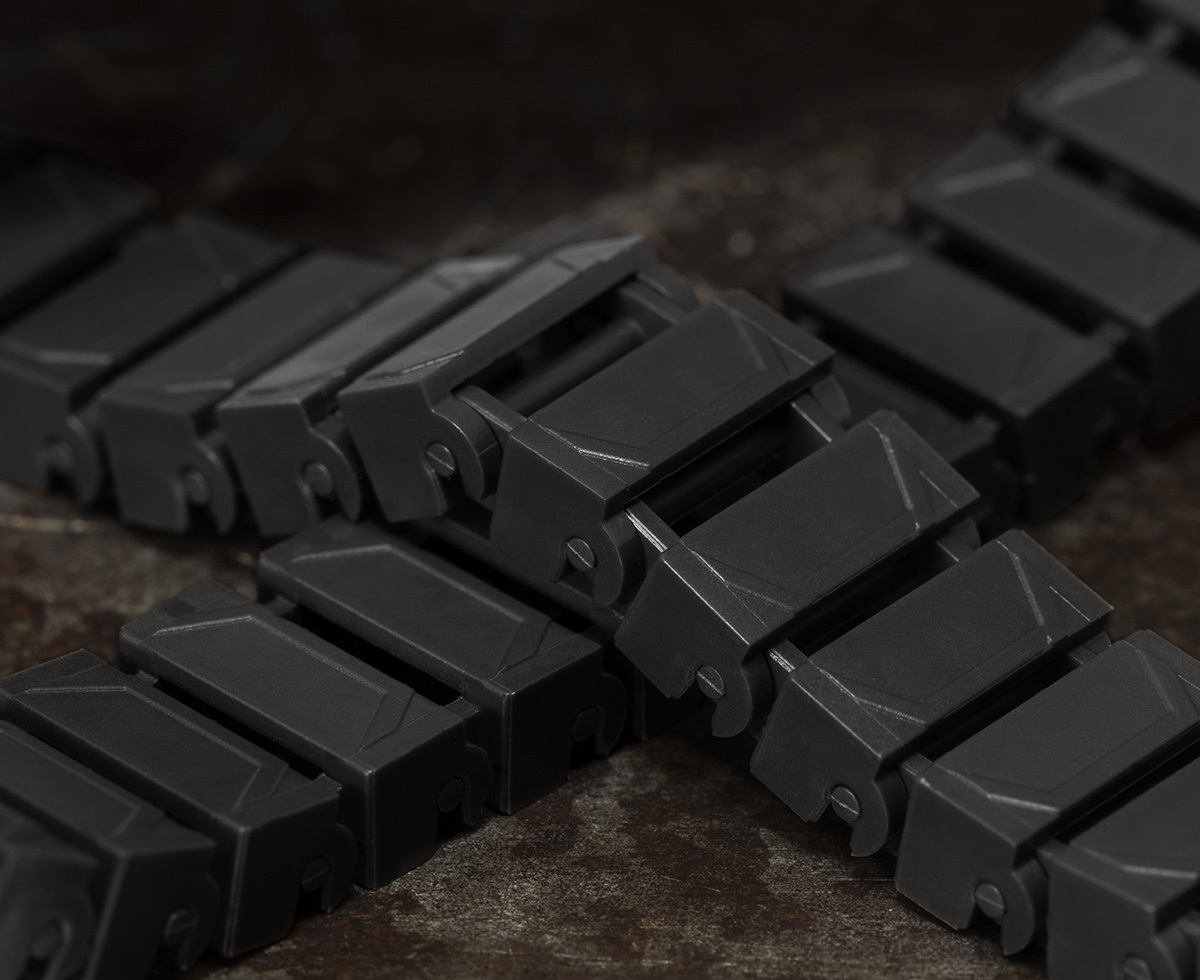 Brickmania Track Links™ V2 - Chevron One and a Half  Wide - Black