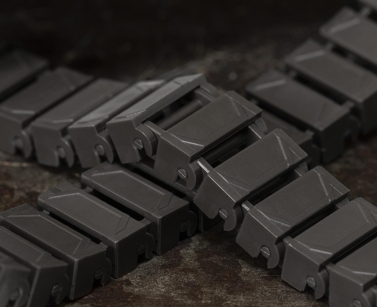 Brickmania Track Links™ V2 - Chevron One and a Half Wide - Steel