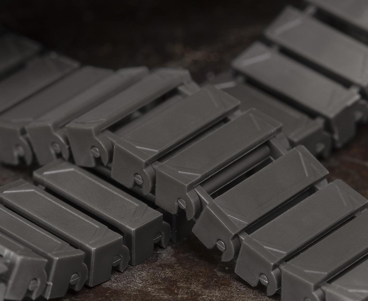 Brickmania Track Links™ V2 - Chevron Double Wide - Steel - x150