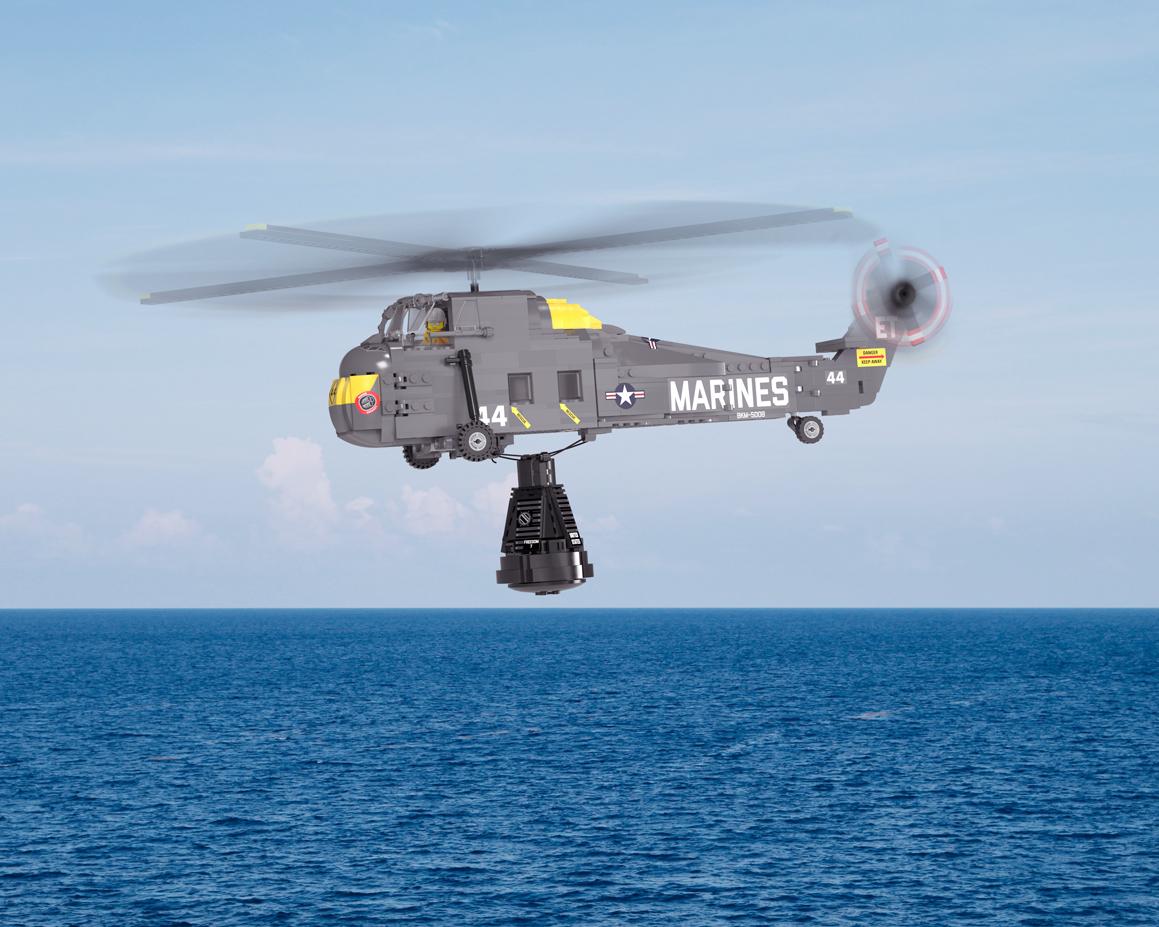 Freedom 7 Capsule + Sikorsky H-34