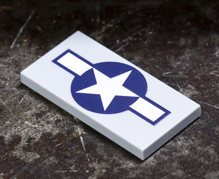 2x4 WWII US Army Air Force Insignia Tile